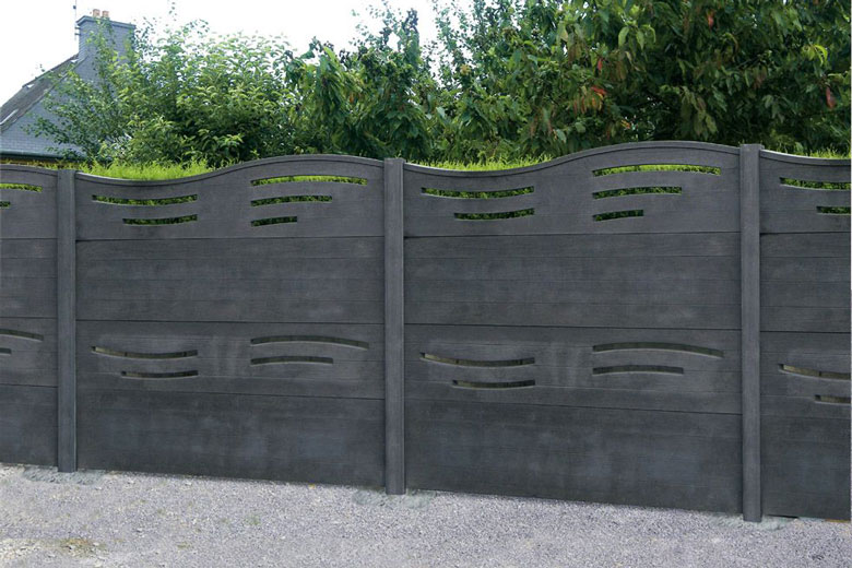 Beautiful cloture jardin en beton contemporary matkin for Devis jardin