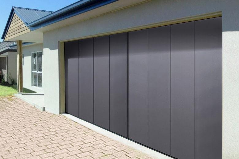 porte de garage zinc